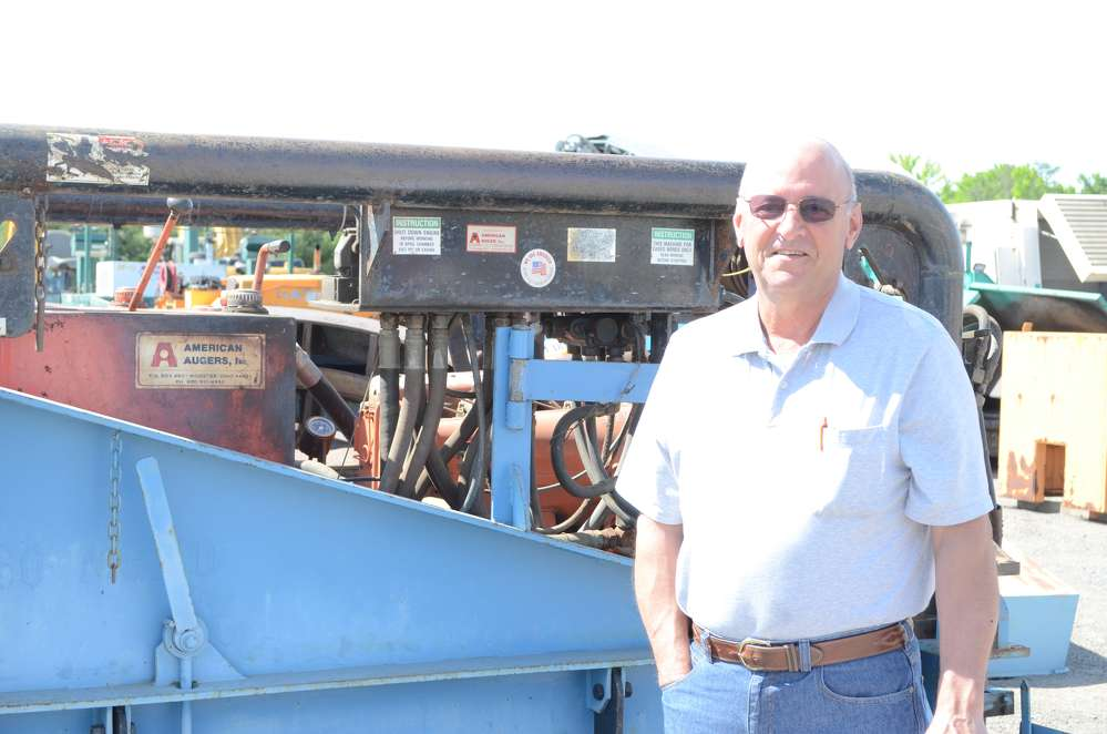 Phil DiPietro of United Pipe, Runnemede, N.J., is looking at boring machines.