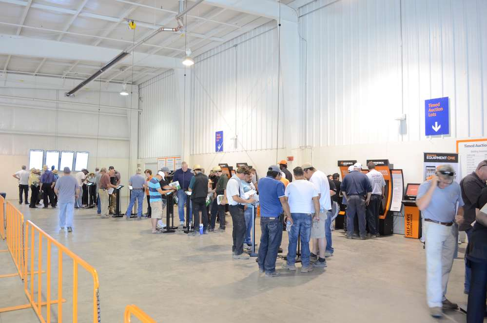 This is a new area at the Ritchie Bros. North East, Md., facility devoted to timed auctions and bidding.