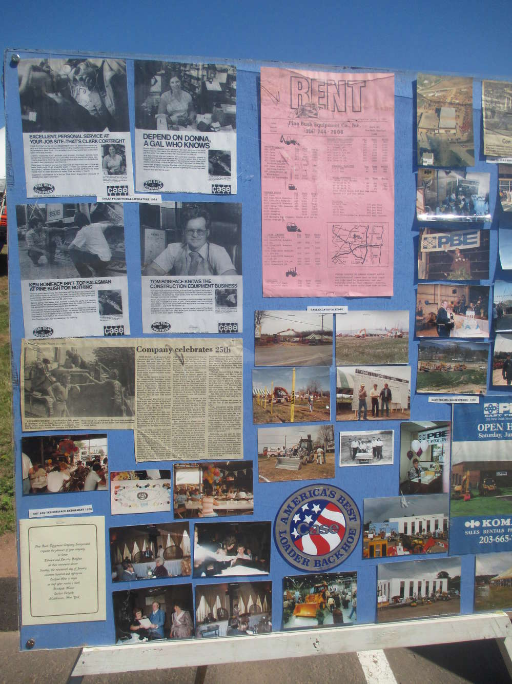 Parts of 60 years of Pine Bush employee and management memories were on display as the family shared photographic images from the 1950s on up.