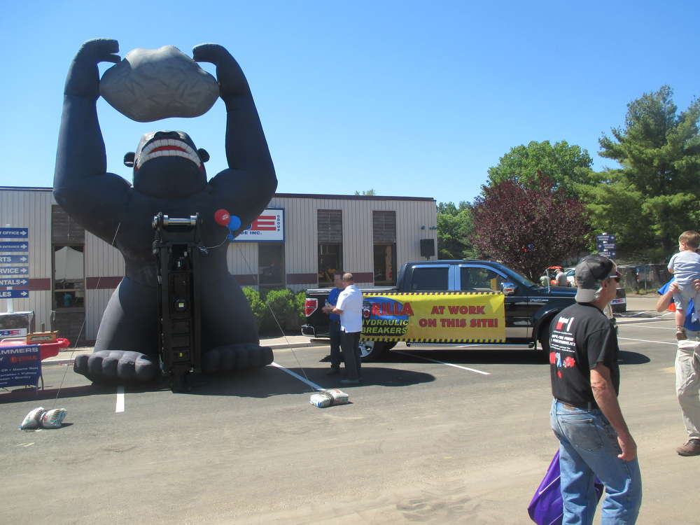 Gorilla Hydraulics was on display at PBE's open house.