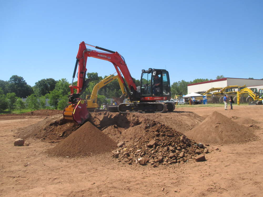 This Kubota KX080-4 excavator was put through its paces at PBE's open house.