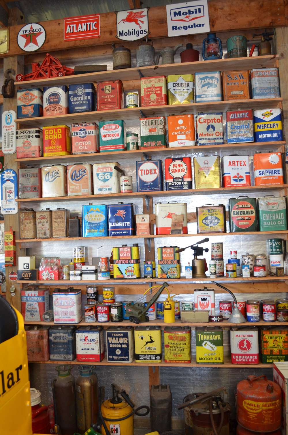 Looking for old motor oil? State Line Machine had an extensive collection of it during its anniversary open house in Wilmington, Del.
