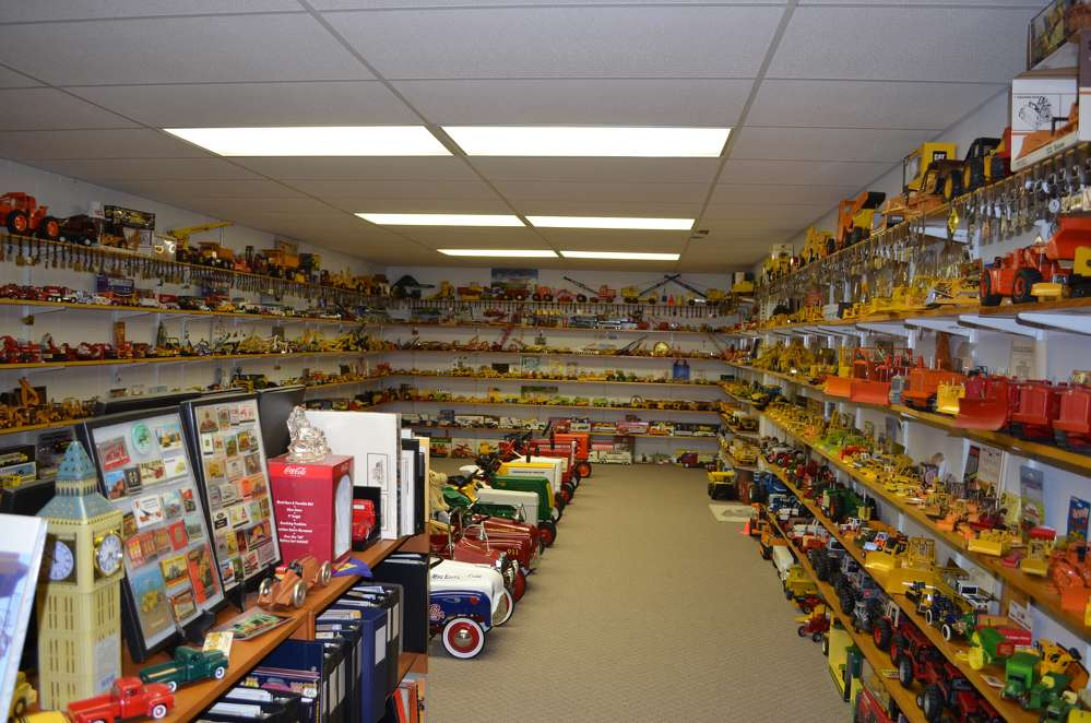 Fulton Owensby Sr. and his son, Fulton Jr., have an amazing collection of construction industry toys at their facility in Wilmington, Del.