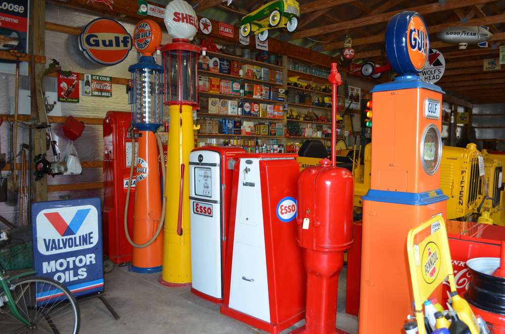 Who wouldn't love to own these antique gas pumps?