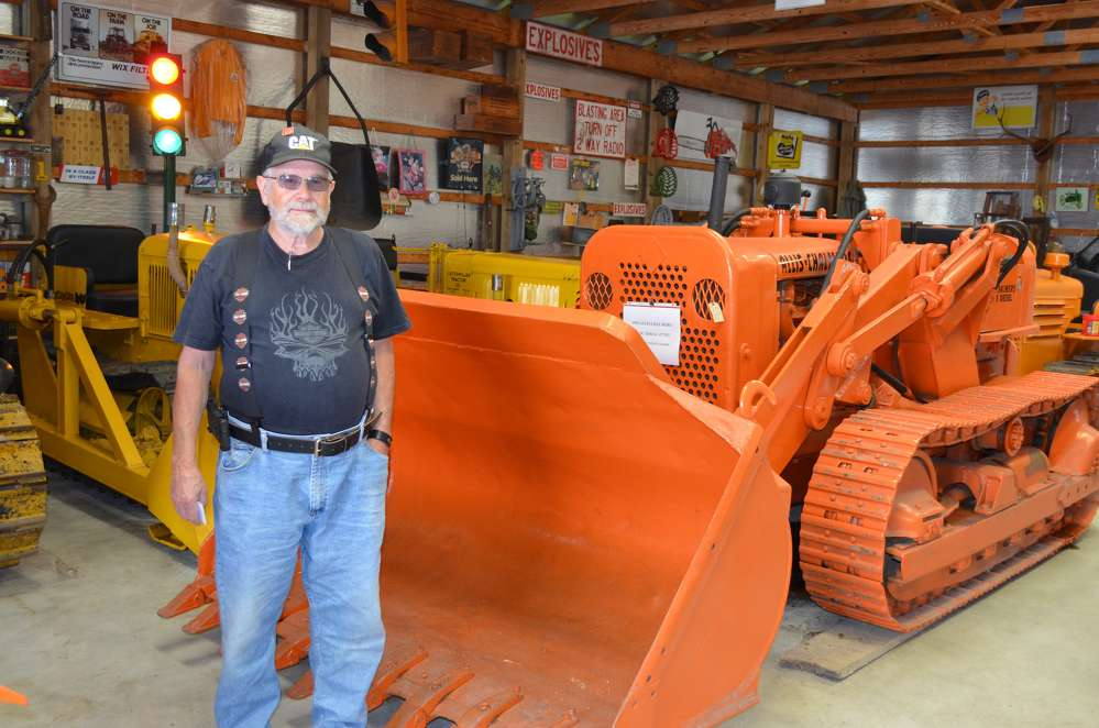 Jerry Myer, retired from Honey Brook Quarry and now with Rough and Tumble, enjoyed viewing the antique equipment collection on display.