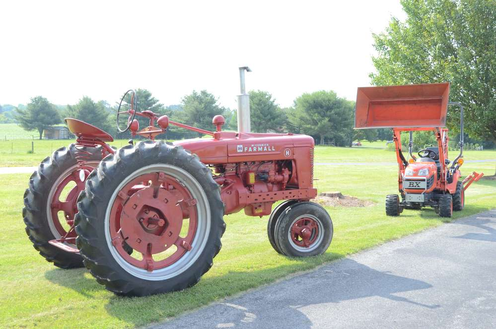 An International Harvester McCormick Farmall tractor. Farmall production spanned six decades from the 1920s to the 1970s.