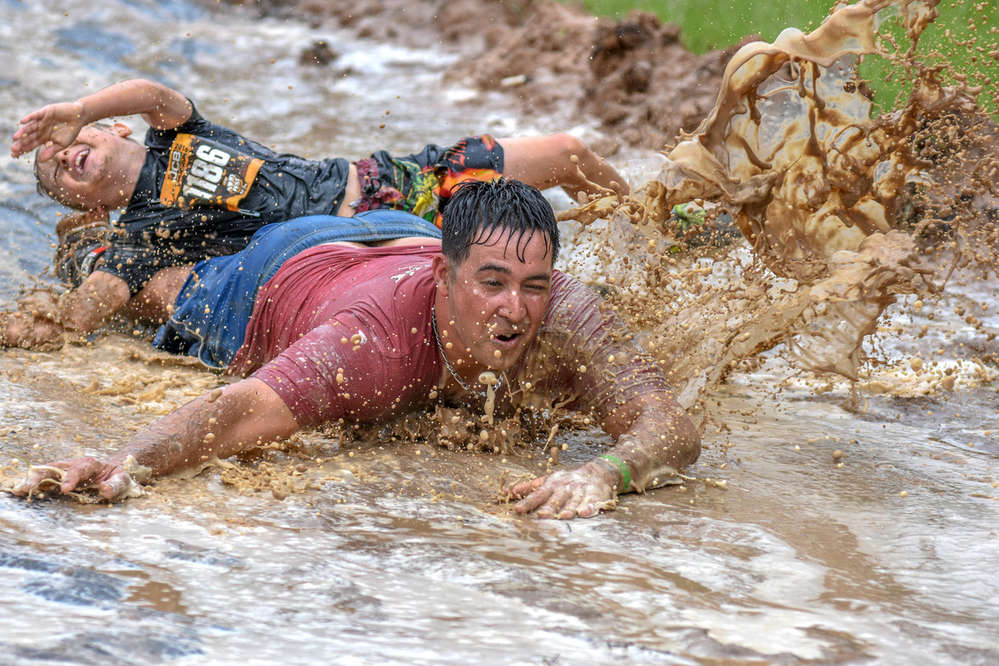 The runners tackled numerous trails in between that tested their endurance and willingness to get muddy.