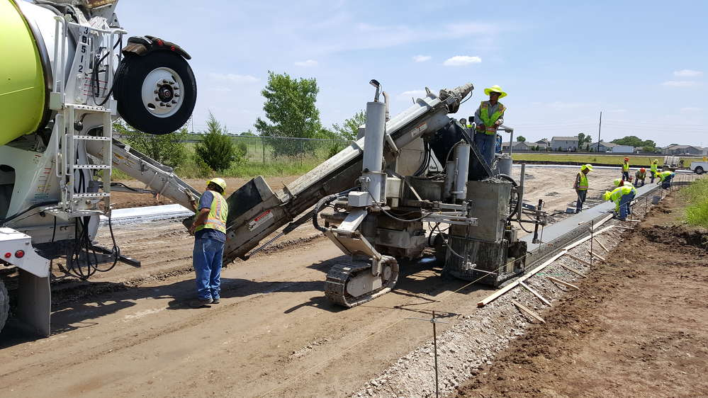 KDOT photo. Cornejo & Sons LLC is handling paving on the project.