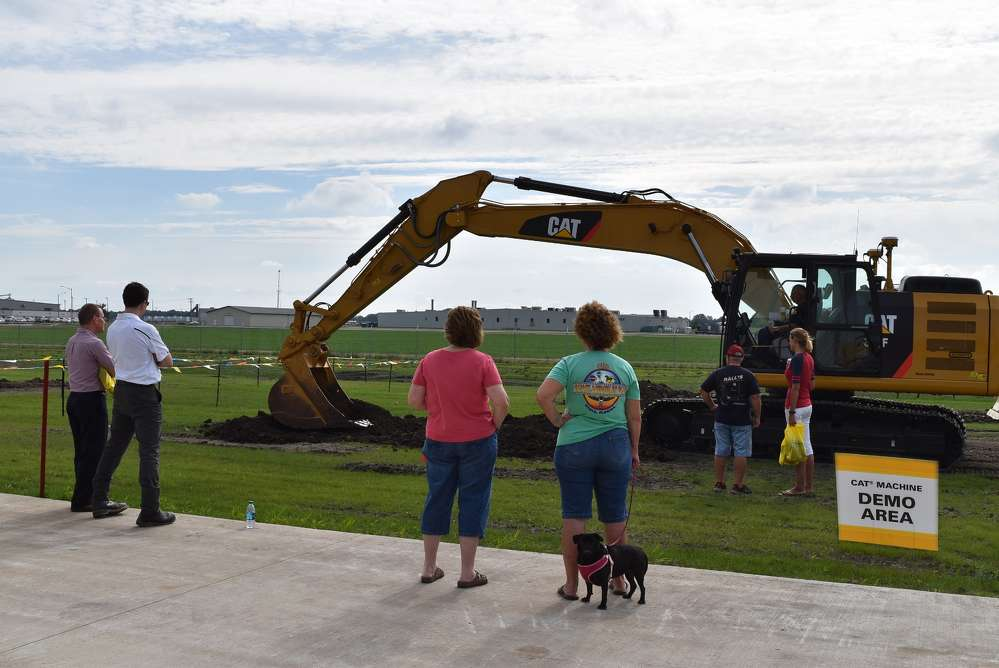 Attendees demo Cat equipment while Altorfer machine specialists stand by for assistance.