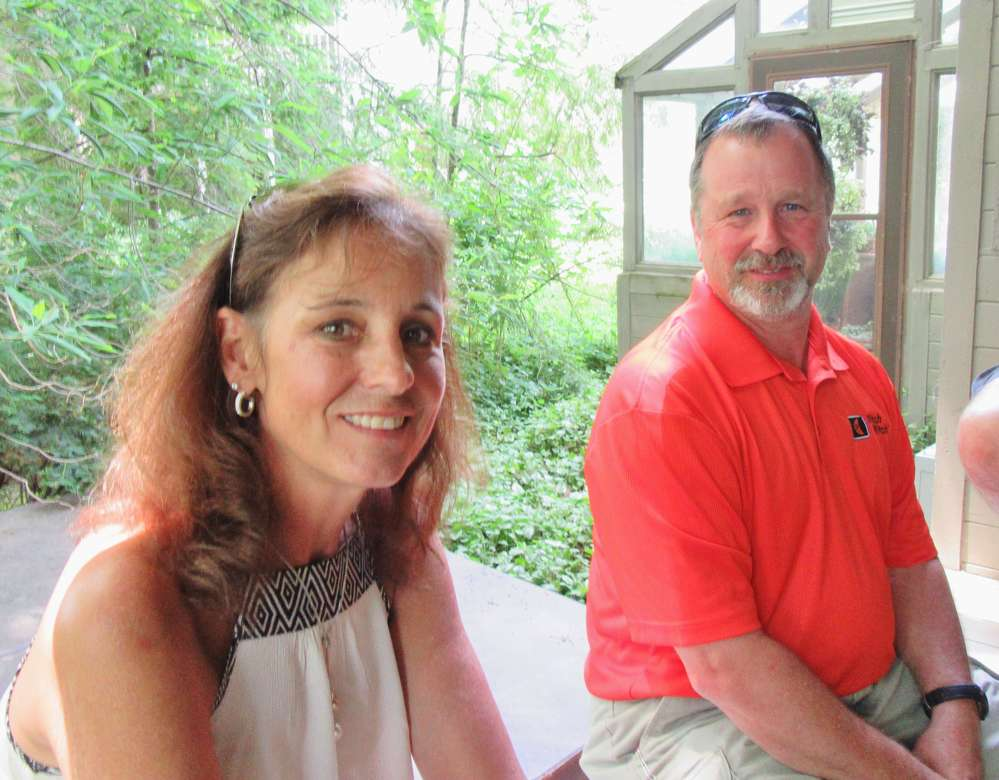 Susan Madewell joins her fiancé, Jim Pape, Ditch Witch Mid-States, at the Memorial Tournament