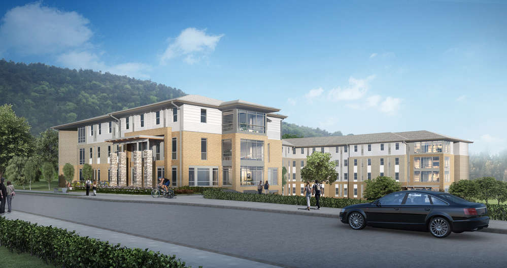 LiFang Vision Technology Co. Ltd. rendering A rendering of the completed Mashburn Hall of Roadrunner Place.