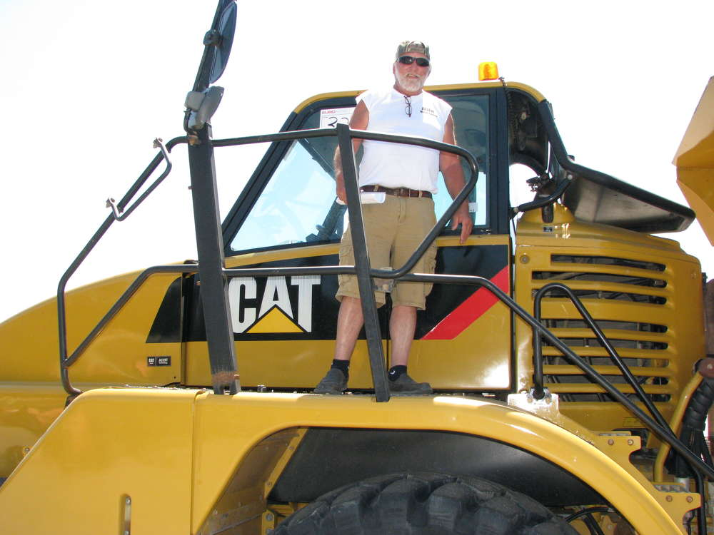 Dean Knuckles of Knuckles Enterprises, Pineville, Ky., intends to buy this Cat 740 articulated truck during the Euro Auctions sale.