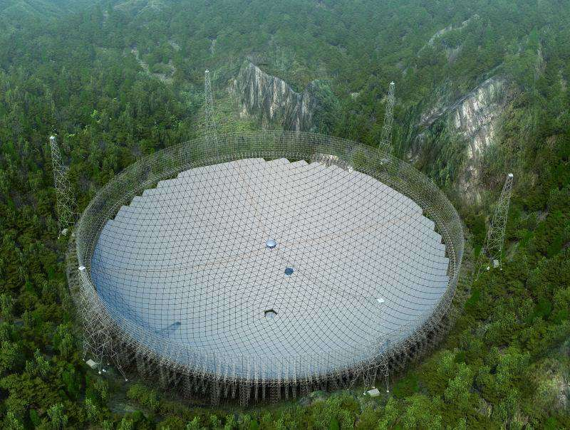 The website Popular Science is reporting that five years, $180 million, and 500 meters after starting, the Chinese Academy of Sciences put the final panel into place on its massive radio telescope this weekend.
