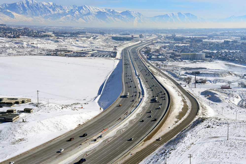 The Utah Department of Transportation (UDOT) is well into a project along I-15 between northern Utah County and Draper that involves rebuilding a 7-mi. (11.26 km) section known as The Point because of its location around the point of a mountain.
