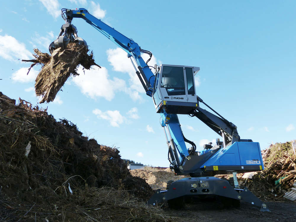 The new Fuchs MHL320 F material handler boasts a compact yet powerful design.