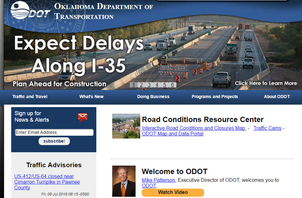 There's a lot to explore within the Oklahoma Department of Transportation's new online map portal.