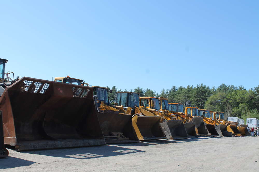 An extensive selection of wheel loaders was offered at the North Country June sale.