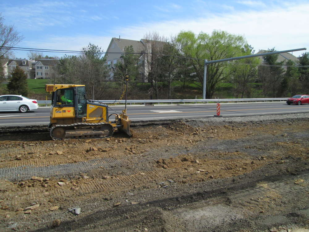 PennDOT photo. The improvement project includes full-depth pavement reconstruction of the existing four-lane concrete roadway and intersection improvements.
