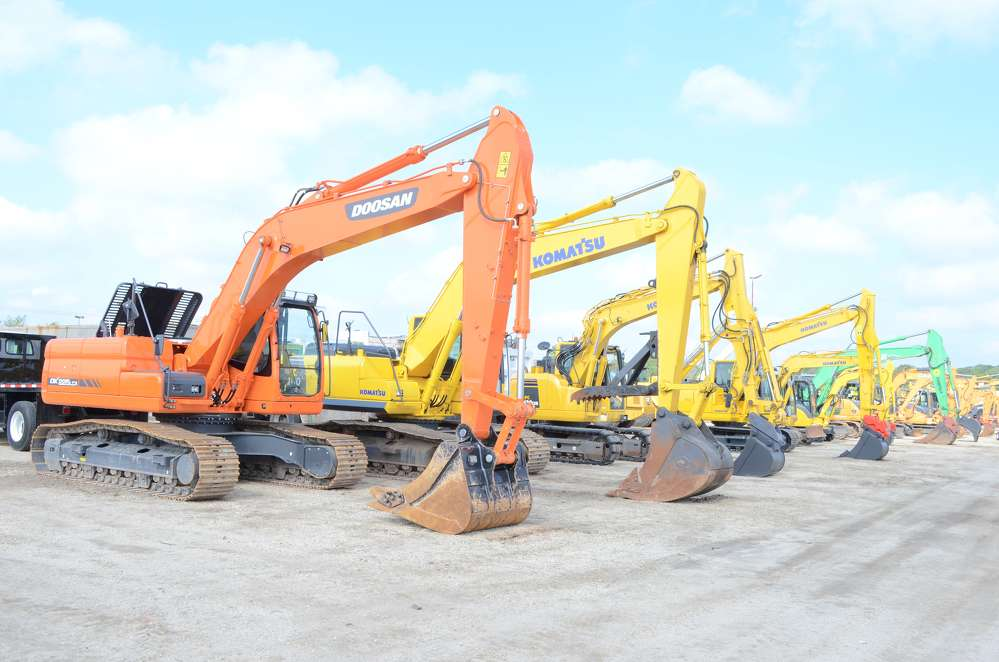 A wide array of excavators found new owners during the auction.