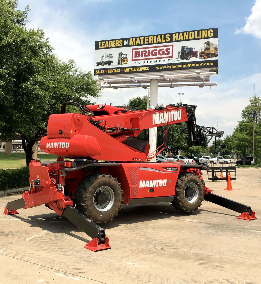 Briggs Equipment will partner with Manitou  to sell the heavy capacity telescopic handlers and rotating telescopic handlers.