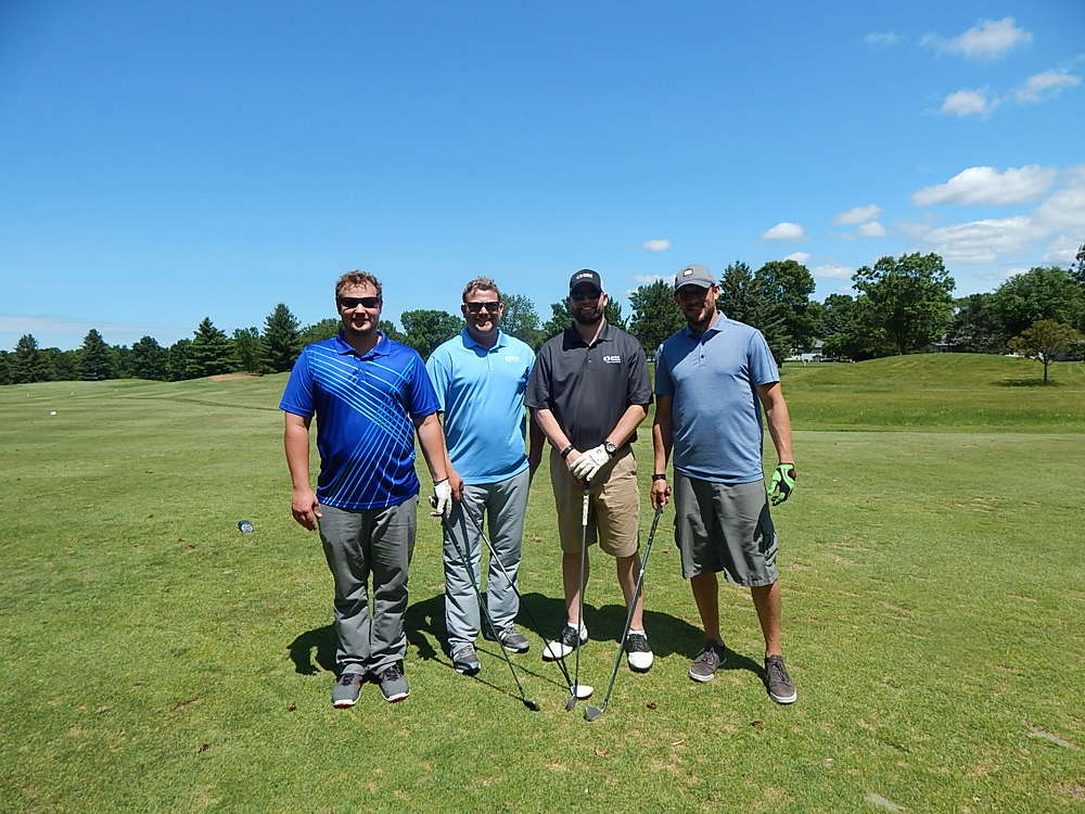 (L-R): Chad Piescher, Josh Ritter, Robert Cobb and Aaron Santama, all of Minnesota Limited, Big Lake, Minn., are ready for the tournament.
