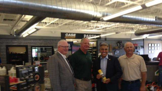 (left to right) AED President & CEO Brian McGuire, McCann Industries CFO Steve Roggeman, Congressman Lou Barletta, McCann Industries Branch Manager Vincent Mastandrea at McCann Industries in Addison. Photo by Scott McPherson.