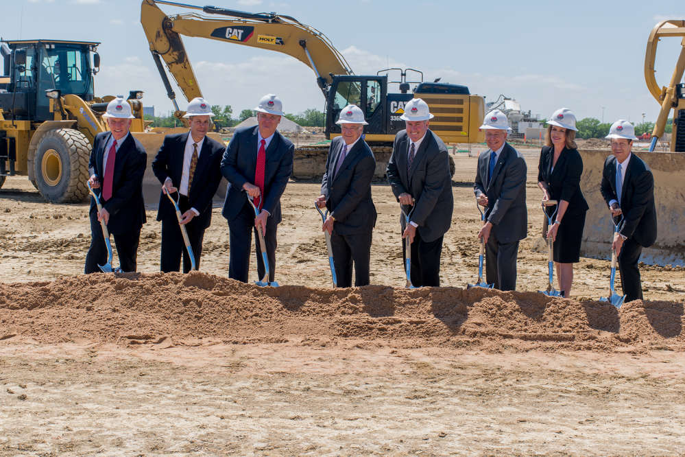 Officials break ground for the new TTI facility in Fort Worth, Texas.