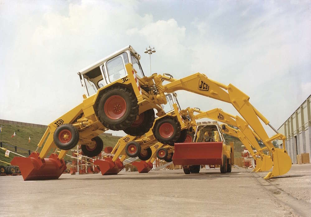 JCB photo. JCB's 'Dancing Diggers' perform all over the world.