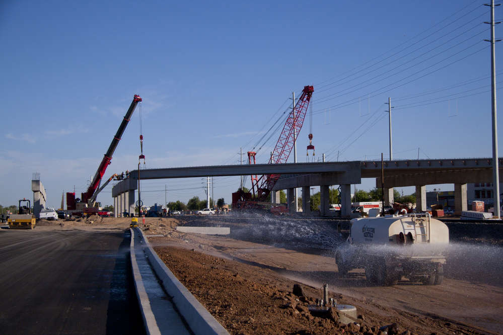 ADOT photo. The project is designed to maintain traffic flow on Grand Avenue and Bell Road and is part of the Maricopa Association of Governments' Regional Transportation Plan.