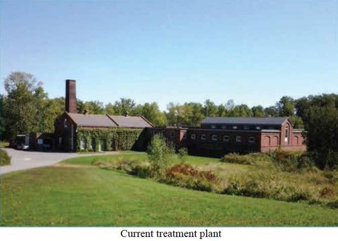 Current treatment plant.