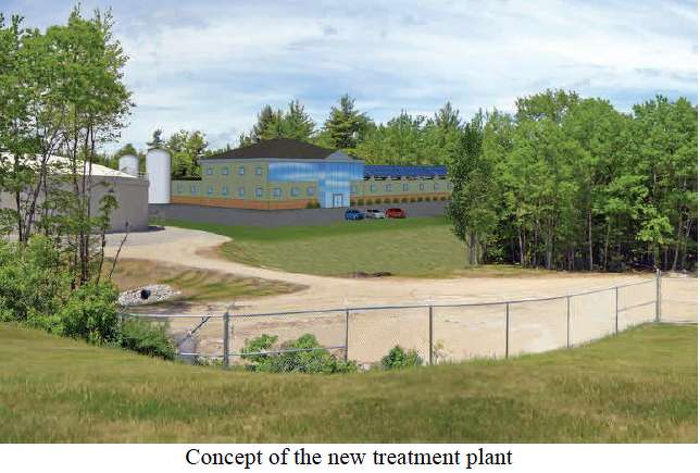 Concept of the new treatment plant.