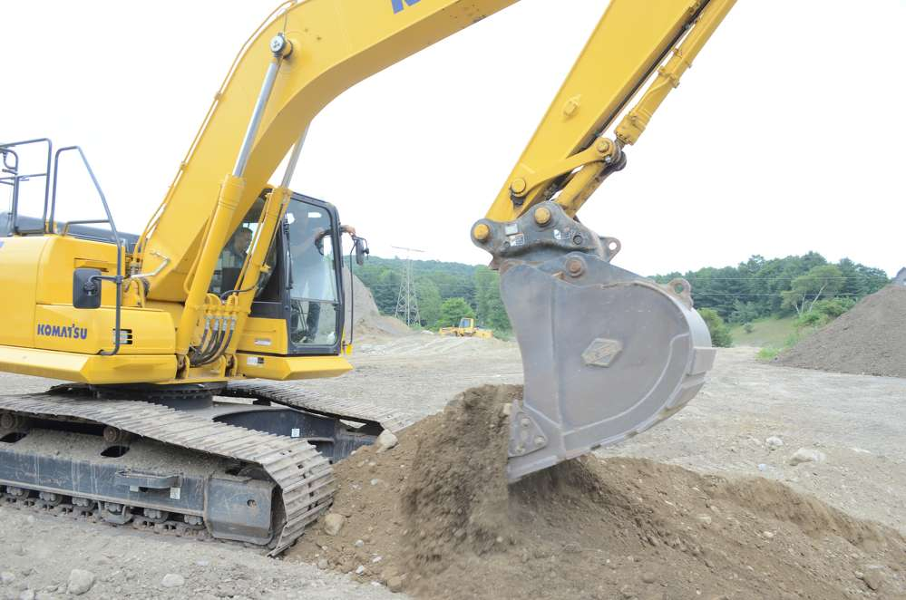 Attendees were able to test the heavy equipment at the demo day.