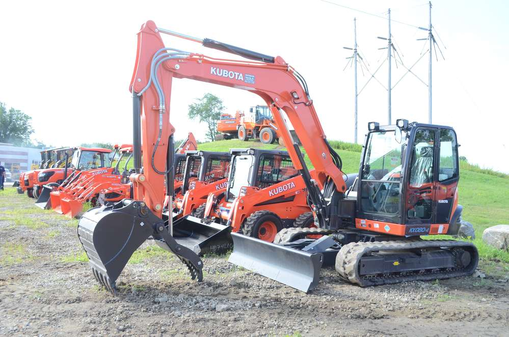 A Kubota mini-excavator was lined up and ready to go.