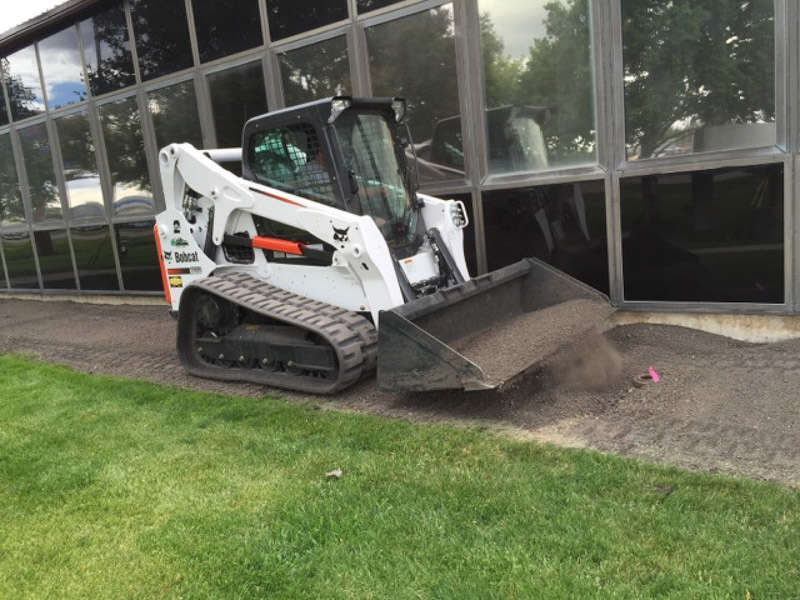 Compact track loaders allow Valley Landscaping to work in tight spaces and fine grade leaving little hand work to finish.