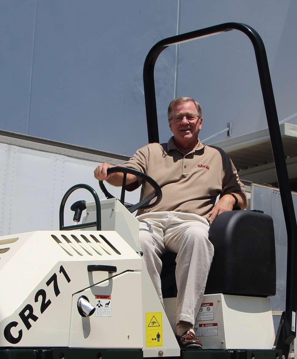 Dale Wilson, national light equipment sales manager, Sakai America Inc