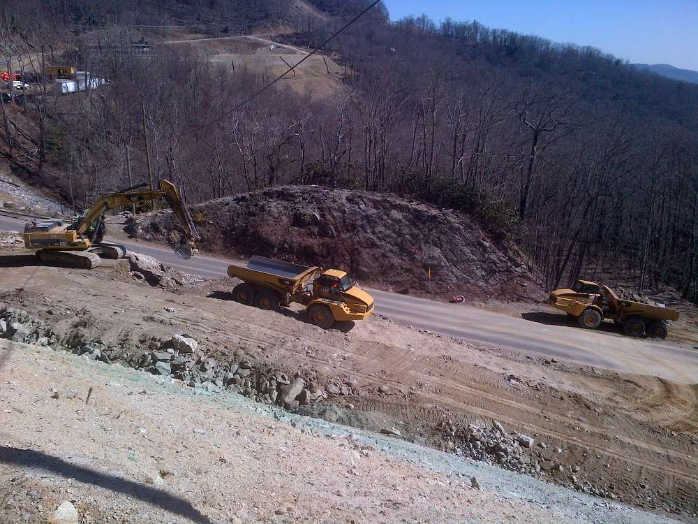 On this part of U.S. 321, Maymead and its subcontractors are working on the side of a mountain that is prone to unpredictable and often extreme weather, as well as alongside hillsides of near-vertical rock.