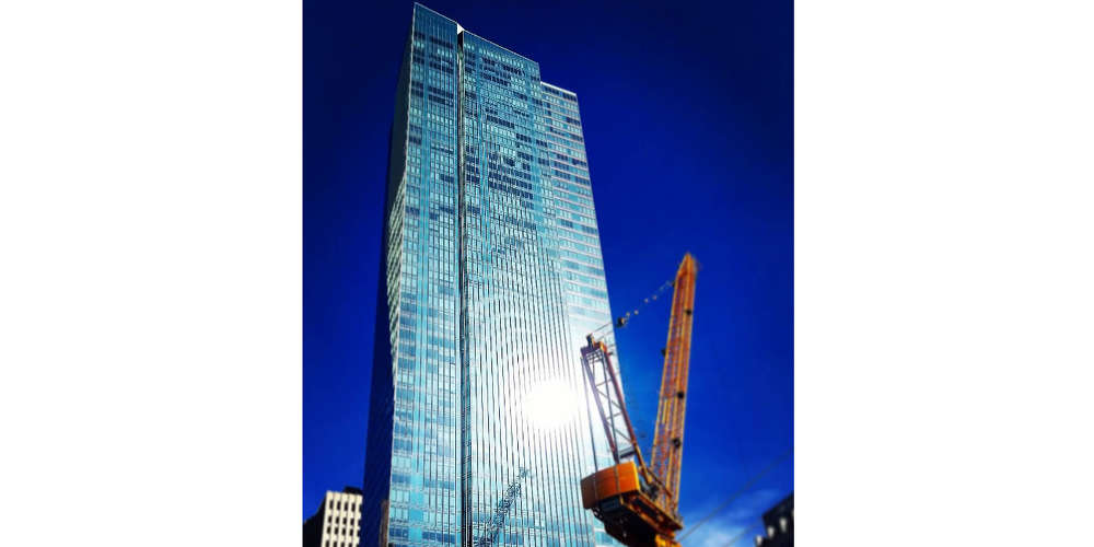 Image courtesy of Twitter. Millennium Tower located at 301 Mission Street, was built in 2008, and boasts condos ranging from $1.6 million to $10 million, the San Francisco Chronicle reports.