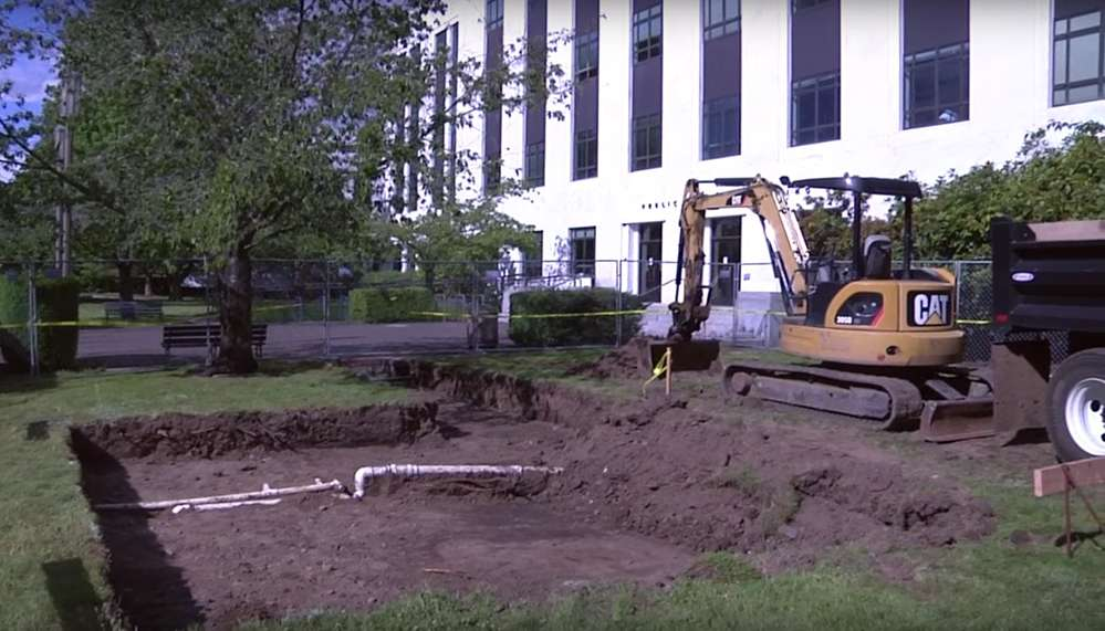 After five years of planning and fundraising, crews broke ground on June 14 in Salem for the Oregon State Police Fallen Troopers Memorial.