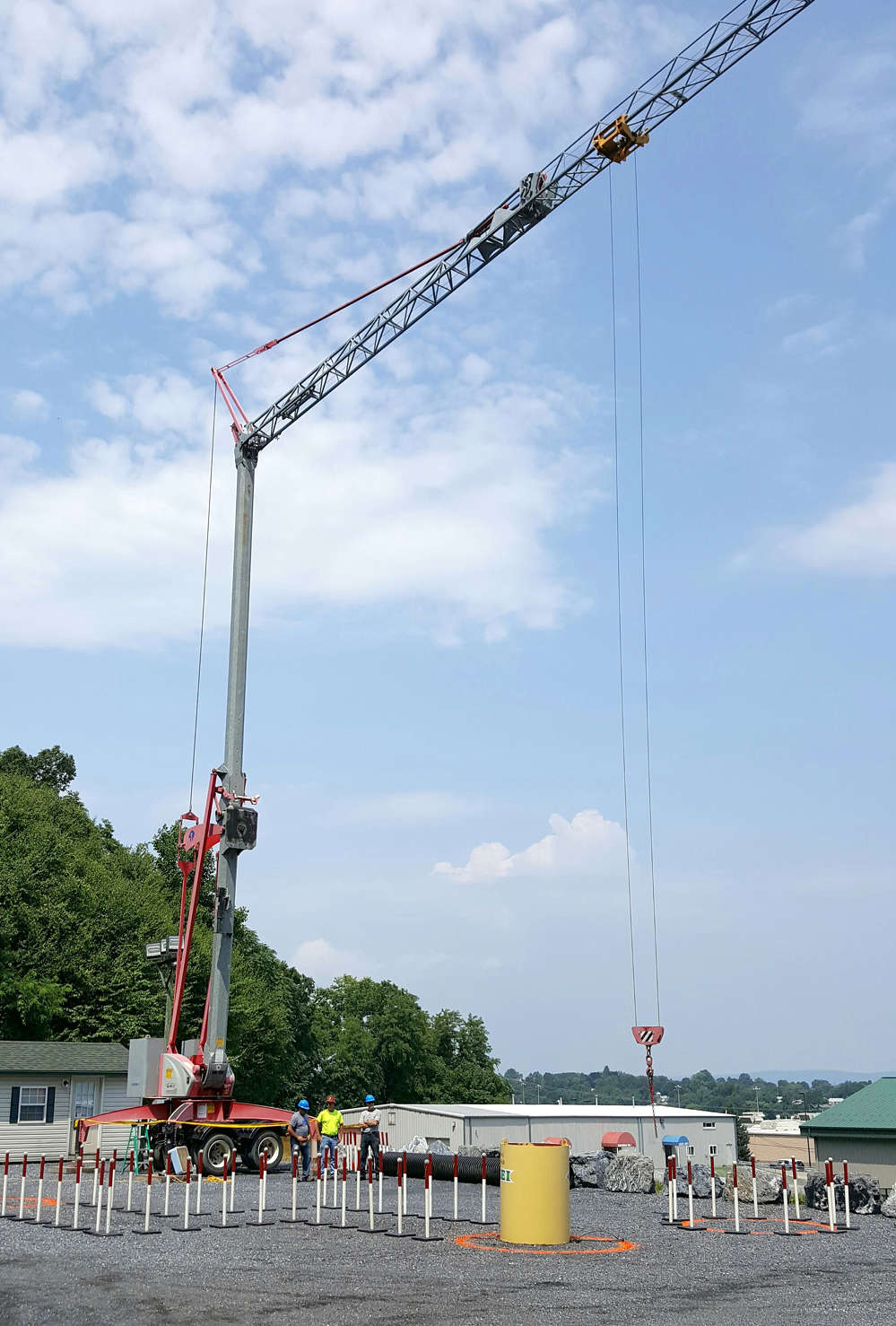 The newest addition to Stephenson's facility is a Potain Igo MA-21 tower crane dedicated solely for training and testing purposes.