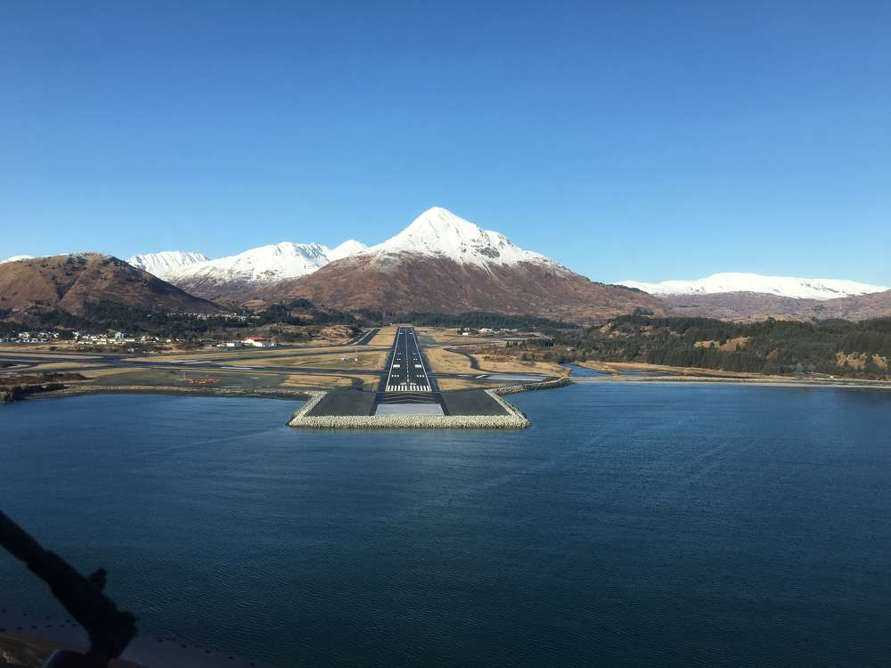 ADOT&PF photo. The Alaska Department of Transportation and Public Facilities (ADOT&PF) has completed the $59 million Kodiak Airport Runway Safety Area Extension.