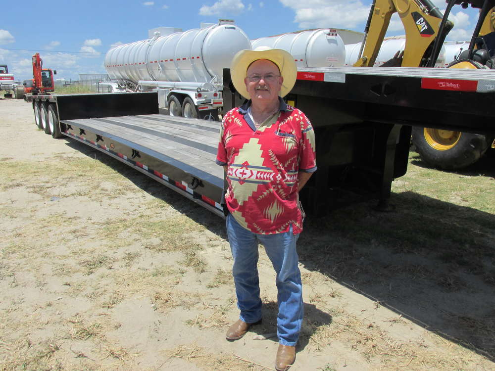 Ross Clatterbuck of Whittle Excavation, Saginaw, Texas, thinks this Talbert trailer is just what his boss has been looking for.