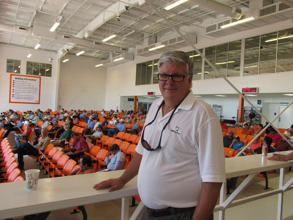 Mark Pentz, the Calvin Group Inc. of Windsor, Colo., arrived at the auction well before the bidding started.