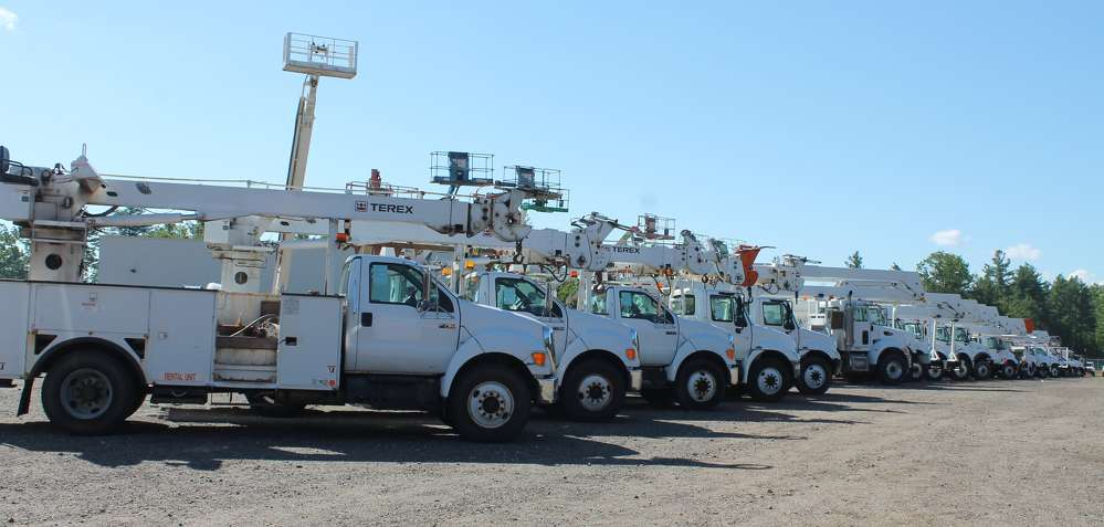 The sale featured an extensive fleet of Terex mobile cranes.