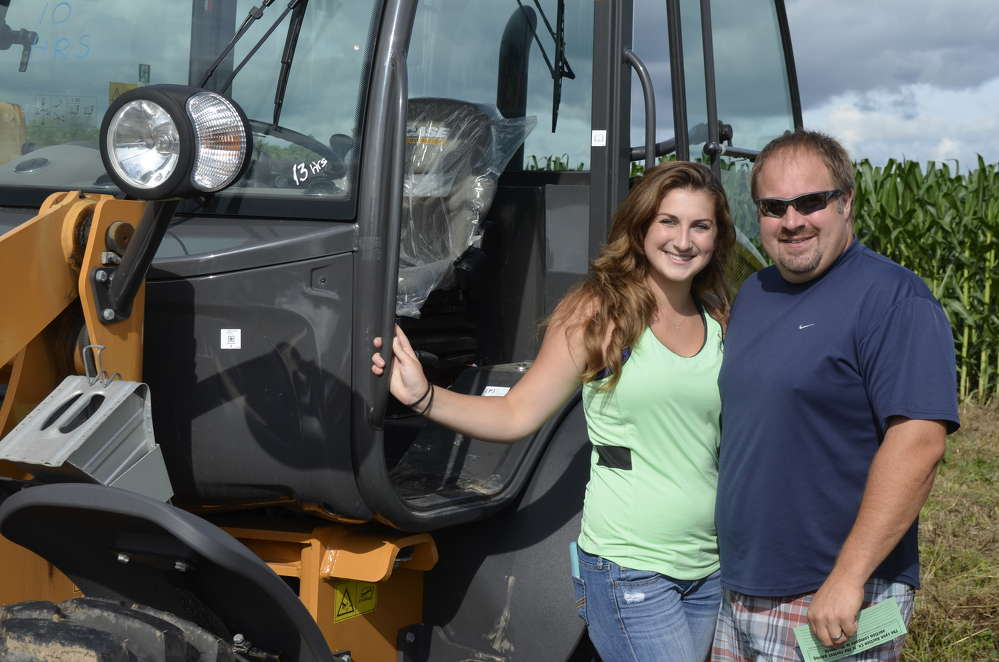 Andrea Marks and Larry Williams from Turin, N.Y., were very impressed with this like-new Case 121F loader.