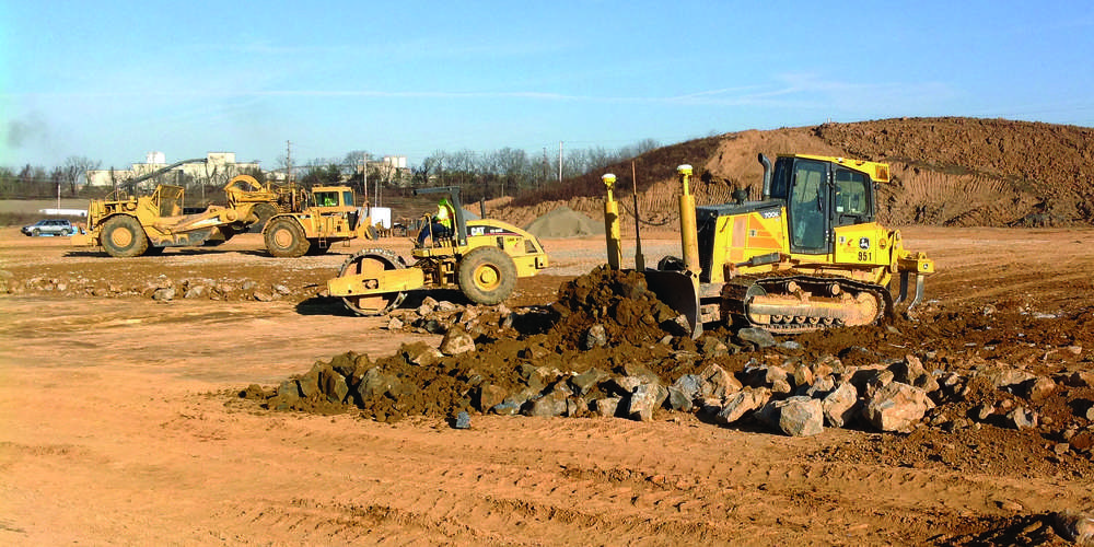 Earthwork was in full swing at the 31.3-acre site for Dermody Properties LogistiCenter at 33. Work will be completed in the fall 2016.
