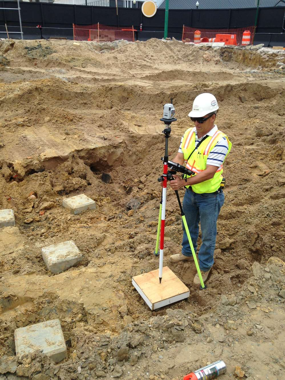 W. M. Jordan Company used a robotic total station for field work for the first time on this project.