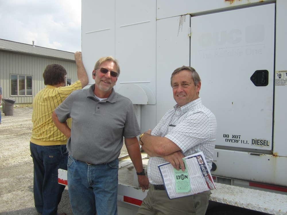 Brad Smith (L) and Ron Kinzinger, both of R&R Inc., Bradley,