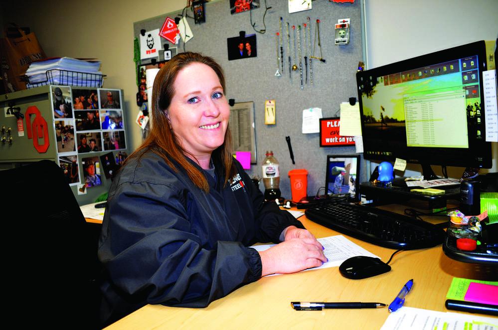 Carla January, drafting coordinator, Bennett Steel.
