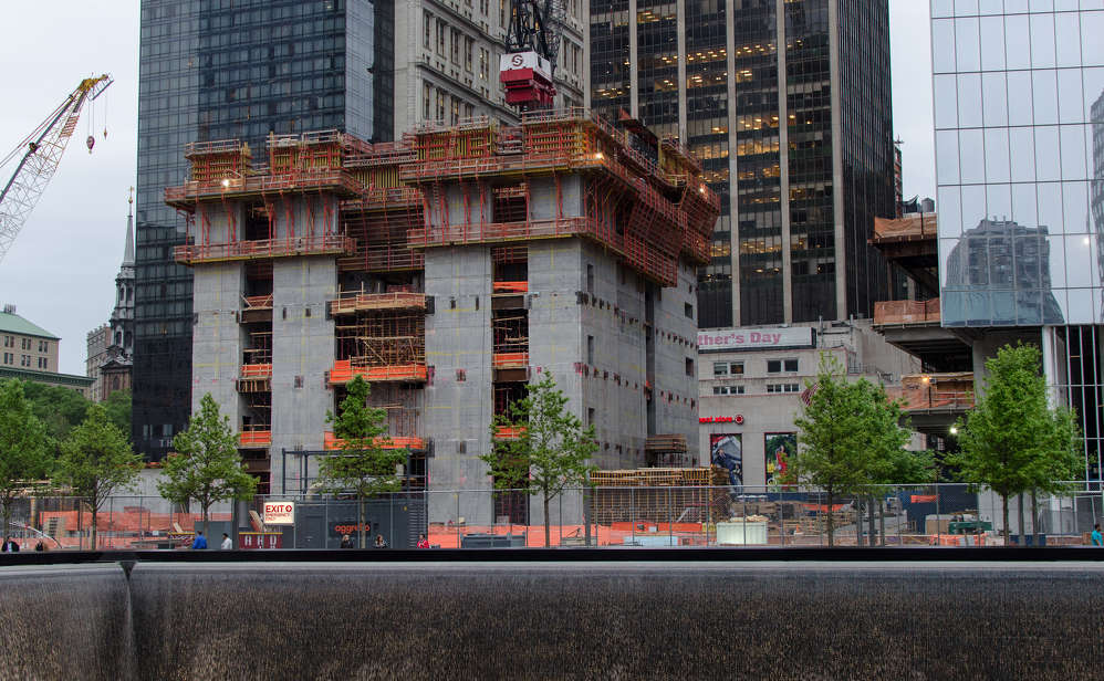 3 World Trade Center, under construction in May of 2012.  Photo by Morgan Davis.