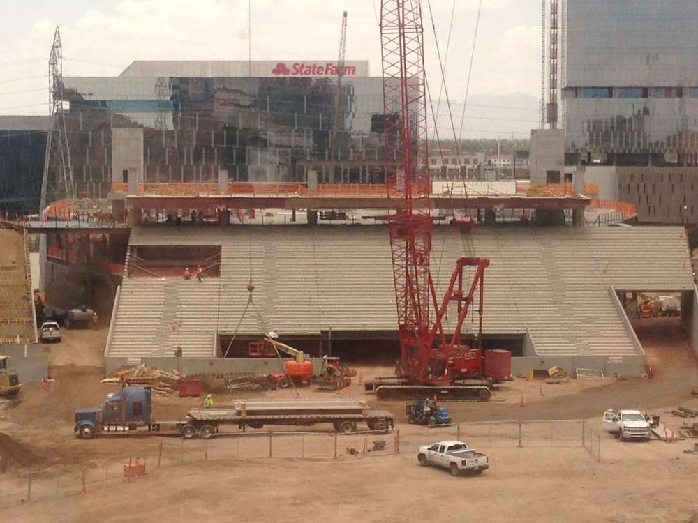 At the completion of Phase II on the west side, the main concourse will begin to connect the stadium clockwise with the south end zone and west side concourses merging with the north Sun Deck.